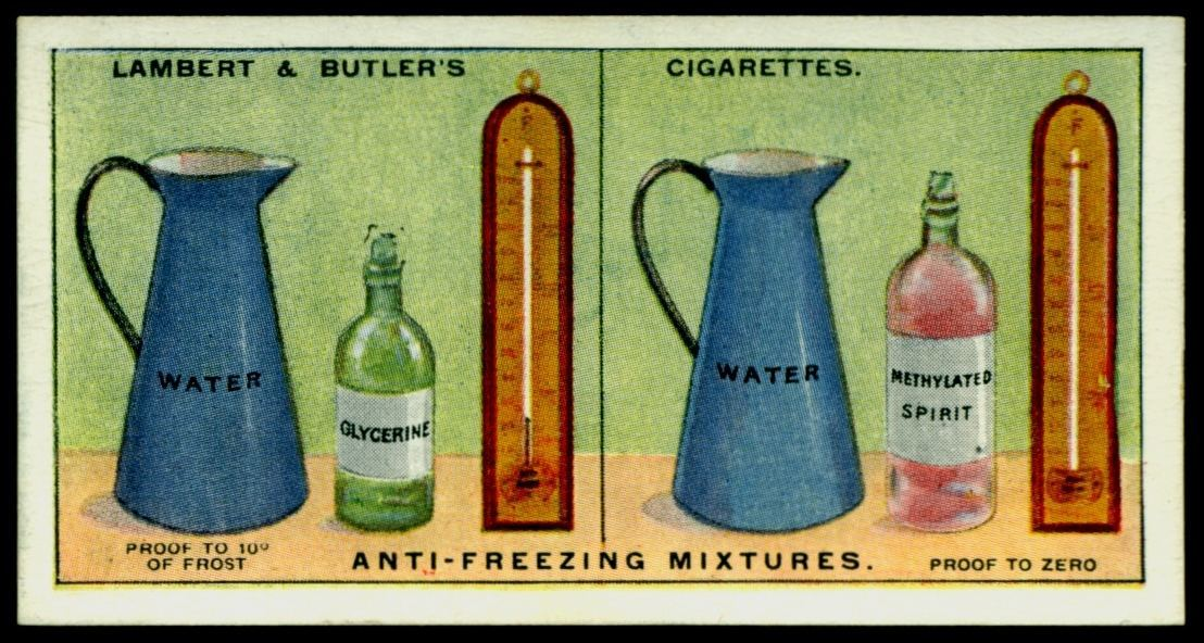 "Lambert & Butler's cigarettes ""Hints & Tips For Motorists"" (series of 25 issued in 1929) #10 ""Anti-Freezing Mixtures"""