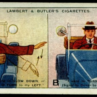 "25 Lambert & Butler ""Hints and Tips for Motorists"" Cigarette Cards from 1932"