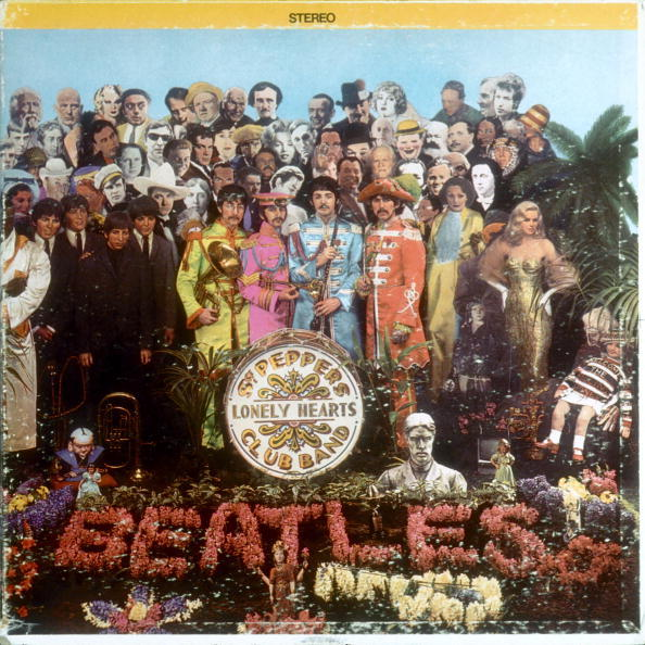 "JUNE 1: Album cover designed by art director Robert Fraser for rock and roll band ""The Beatles"" album entitled ""Sgt. Pepper's Lonely Hearts Club Band"" which was released on June 1, 1967. (Photo by Michael Ochs Archives/Getty Images)"