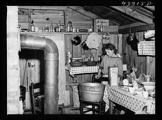 Title: In the second story of a tobacco barn used as living quarters by family of workers from Fort Bragg, North Carolina. Near Fayetteville, North Carolina Creator(s): Delano, Jack, photographer Date Created/Published: 1941 Mar.