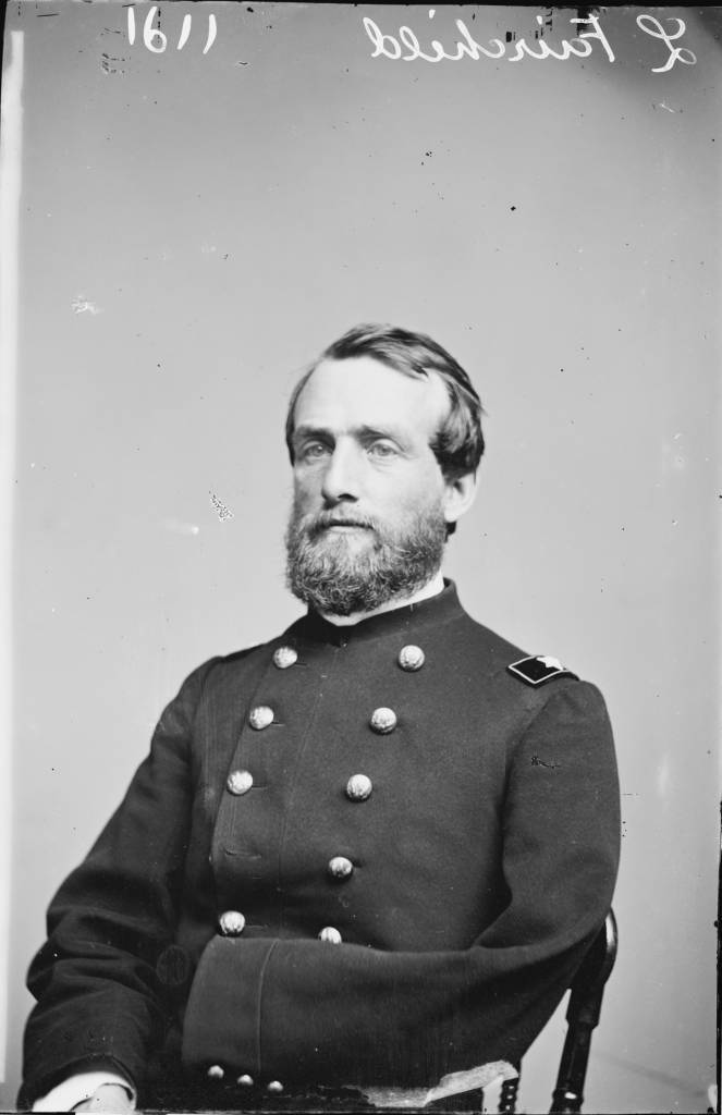 Lucius Fairchild lost his left arm on the first day of the Battle of Gettysburg in 1863. He was elected Governor of Wisconsin in 1866. Courtesy Library of Congress