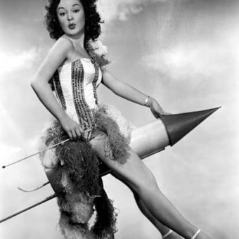 Vintage Babes and Their 1950s Phallic Rockets