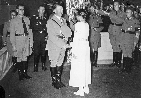 Germany, Third Reich - Nuremberg Rally 1935 Hitler and Gertrud Scholtz-Klink, the head of the NS-Women's League