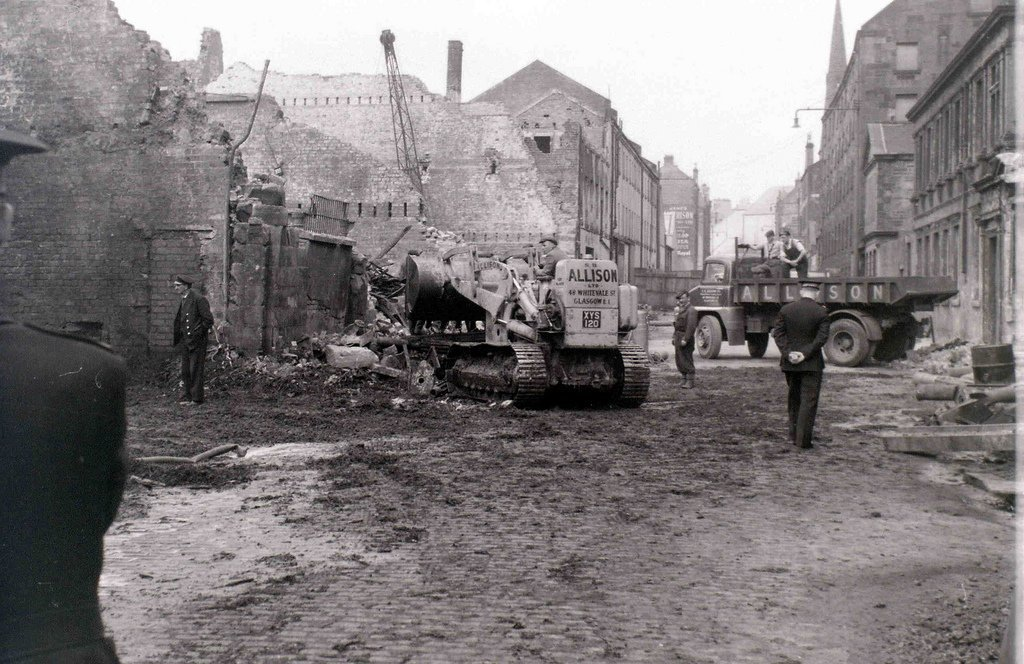 The Cheapside fire. Brownie Bear: Yhe fire  broke out on 28th March 1960 and continued to smoulder for the best part of a week. 14 members of Glasgow Fire Service died and 5 members of the Glasgow Salvage Corps also died.