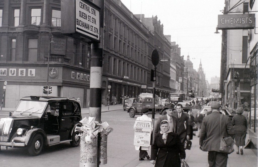 Image result for glasgow city centre 1960