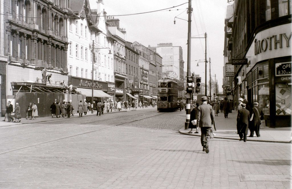 Argyle Street, city centre.   John Robertson 6y Rob , you forgot about the Mark 1 Coronation Tram!