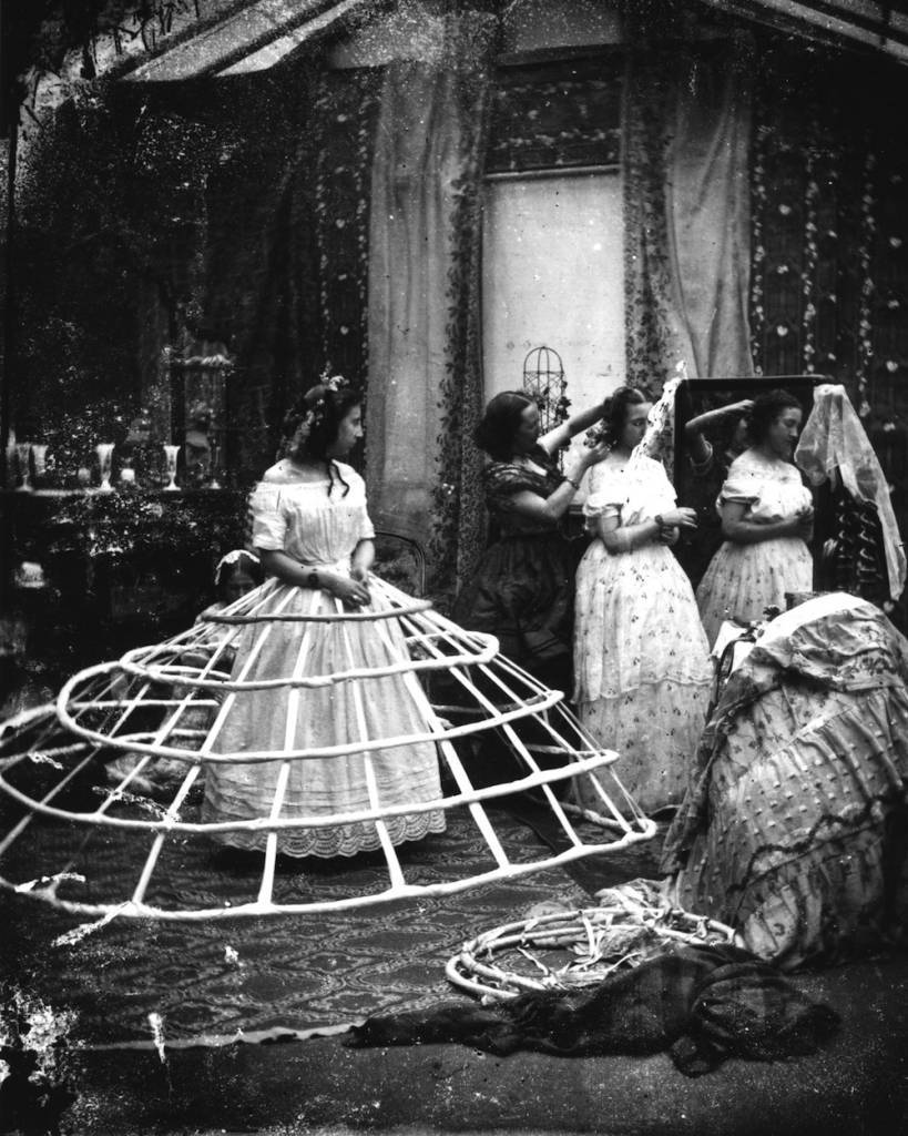 The hoops used to support the crinoline dress during Victorian times.   (Photo by London Stereoscopic Company/Getty Images)