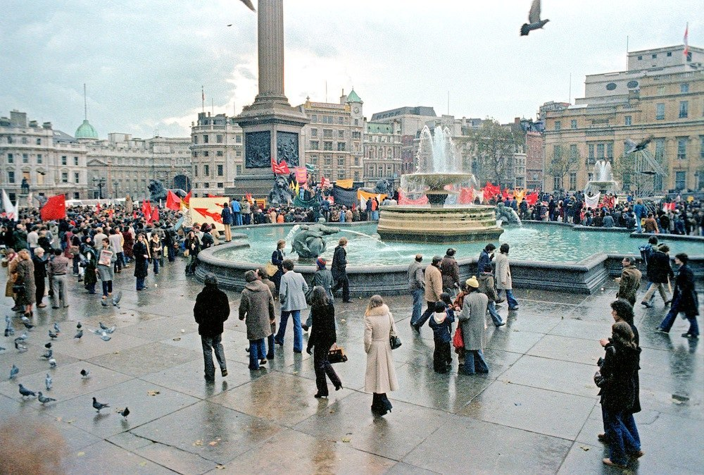 Demonstration against racist immigration laws, Trafalgar Square 1979 Alan Denney
