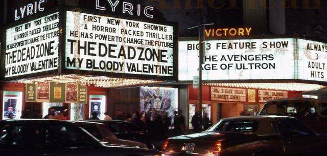 HORROR MOVIE MARQUEE 1983