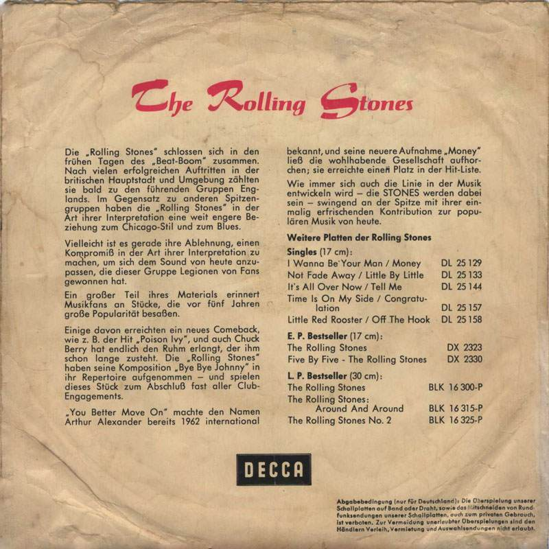 Rolling Stones Satisfaction 6 reverse