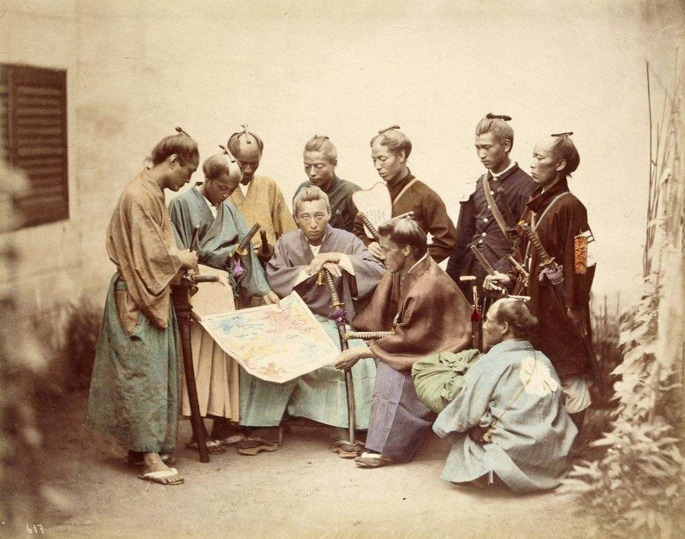 Samurai of the Satsuma clan, during the Boshin War period (1868–1869)