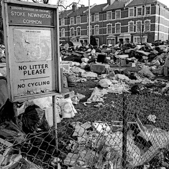Photographs of Stoke Newington During the 'Winter of Discontent' by Alan Denney