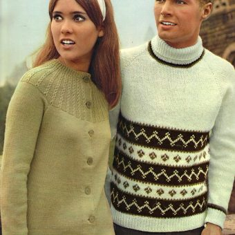 What Are They Looking At? Vintage Sweater Models Staring At God-Knows-What