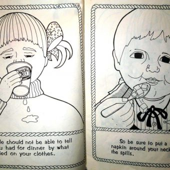 Crayola Horrors: A Look at Some Odd and Unsettling Vintage Coloring Books