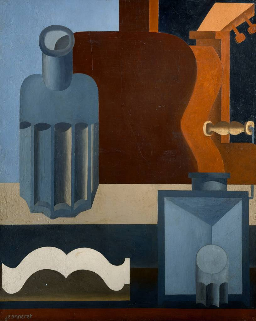Purism was an art movement founded in 1918 by Le Corbusier and Amédée Ozenfant, and explained in their manifesto After Cubism. It is characterised by orthogonal compositions, the use of neutral colours and the representation of industrial objects. Le Corbusier's Guitare Verticale (1ère version), 1920.