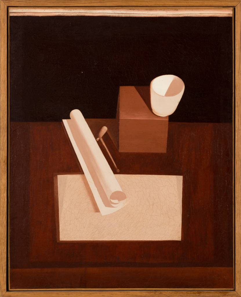 Le Bol Rouge (the red bowl), 1919, was painted during Le Corbusier's purist period.