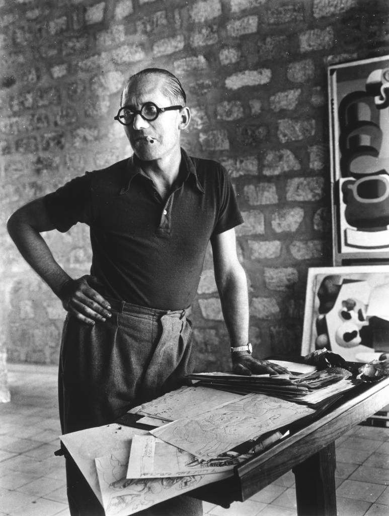 Charles-Édouard Jeanneret, AKA Le Corbusier, California, 1937. Although Le Corbusier only designed one building in the US – the Carpenter Center at Harvard University – his ideas were a powerful influence on the architecture of southern California. Photograph: Rogi André/Centre Pompidou