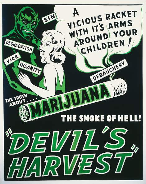 A poster for Ray Test's 1942 drama 'Devil's Harvest'.(Photo by Movie Poster Image Art/Getty Images)