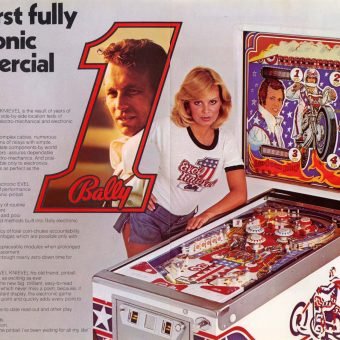 Evel Knievel and Pop Icon Pinball Machines of the 1970s-80s