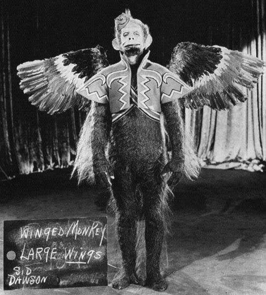 "Flying Monkey wardrobe test from ""The Wizard of Oz"" (1939)."