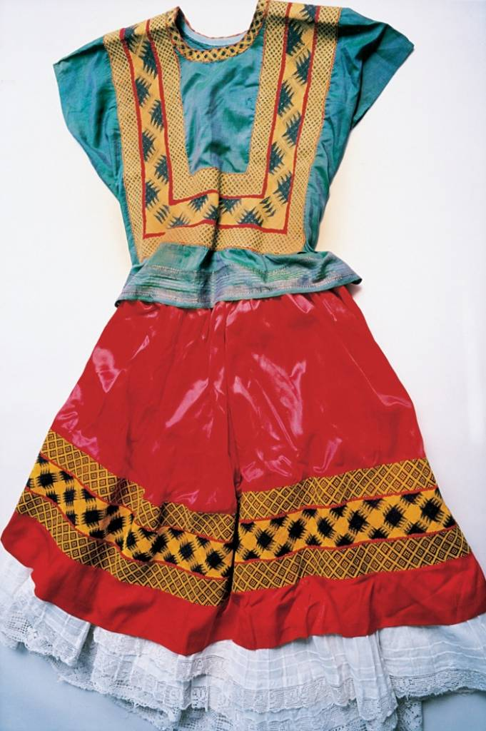 Kahlo's right leg was thinner than her left after childhood polio – and it was later fractured in 11 places when she had a horrific bus accident in her 20s. As a result, she wore long, traditional Tehuana dresses that concealed her lower body