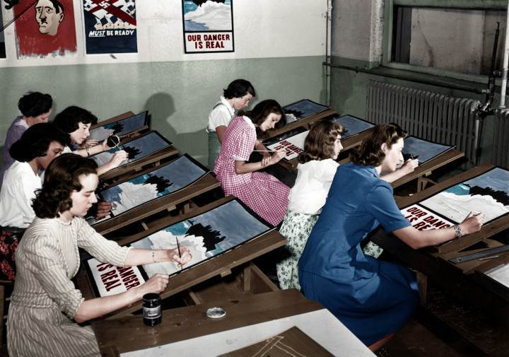 World War II propaganda posters in Port Washington, New York, (1942)