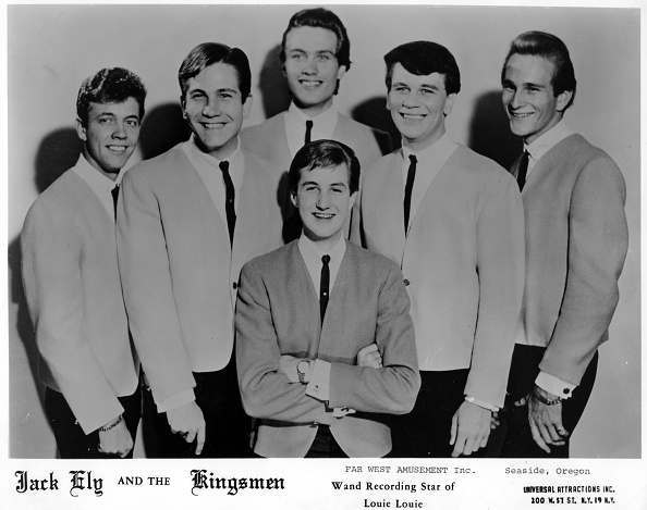 964: Jack Ely (center) poses for a portrait with his group 'Jack Ely And The Kingsmen' in 1964.