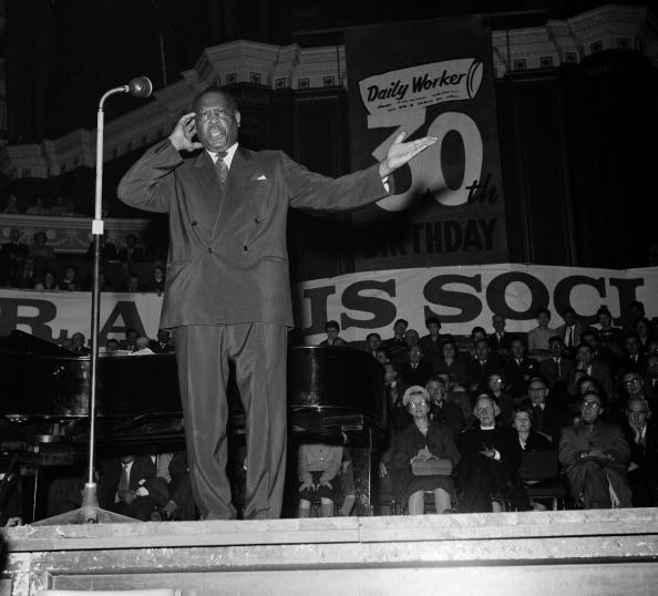 Music, Royal Albert Hall, London, England, 14th March 1960, American singer Paul Robeson entertains at a Communist papers rally