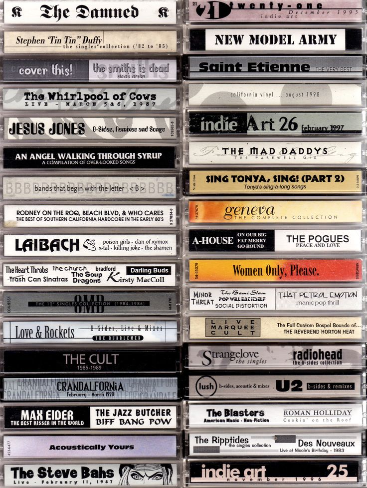 The Lost Art of Cassette Design