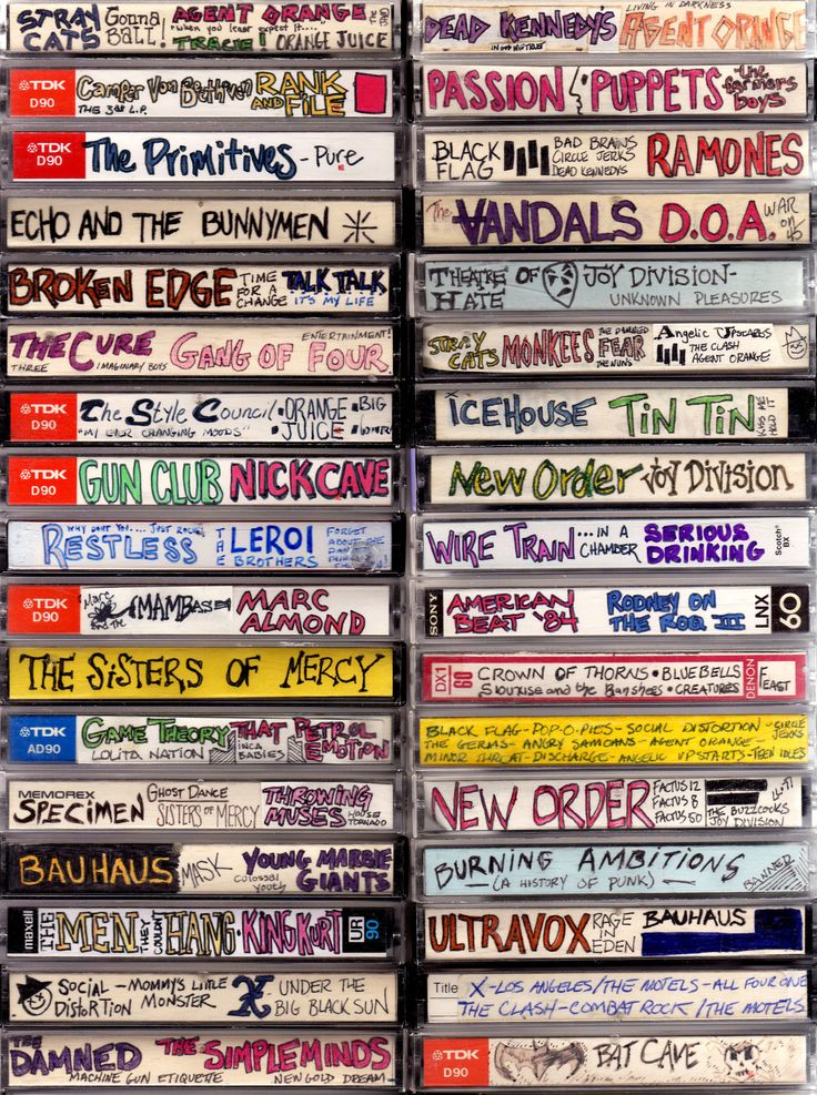 The lost art of cassette design 1980s for Best 90s house tracks
