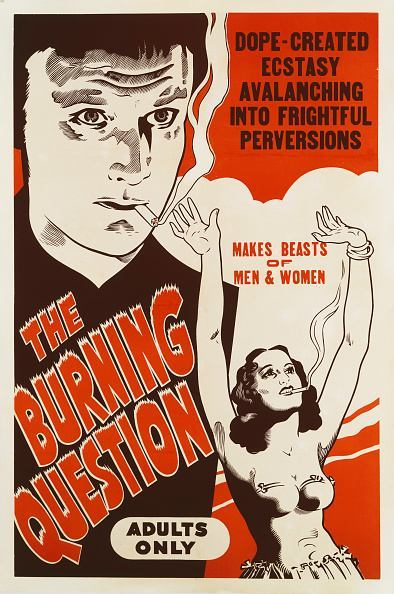 A poster for Louis J. Gasnier's 1938 drama 'Reefer Madness' (aka 'The Burning Question').