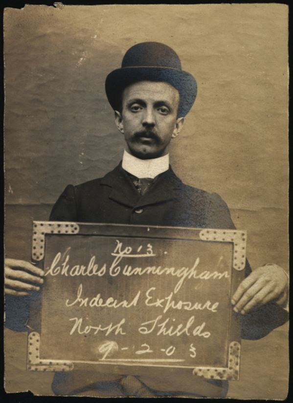 Name: Charles Cunningham Arrested for: Indecent exposure Arrested at: North Shields Police Station Arrested on: 9 February 1903