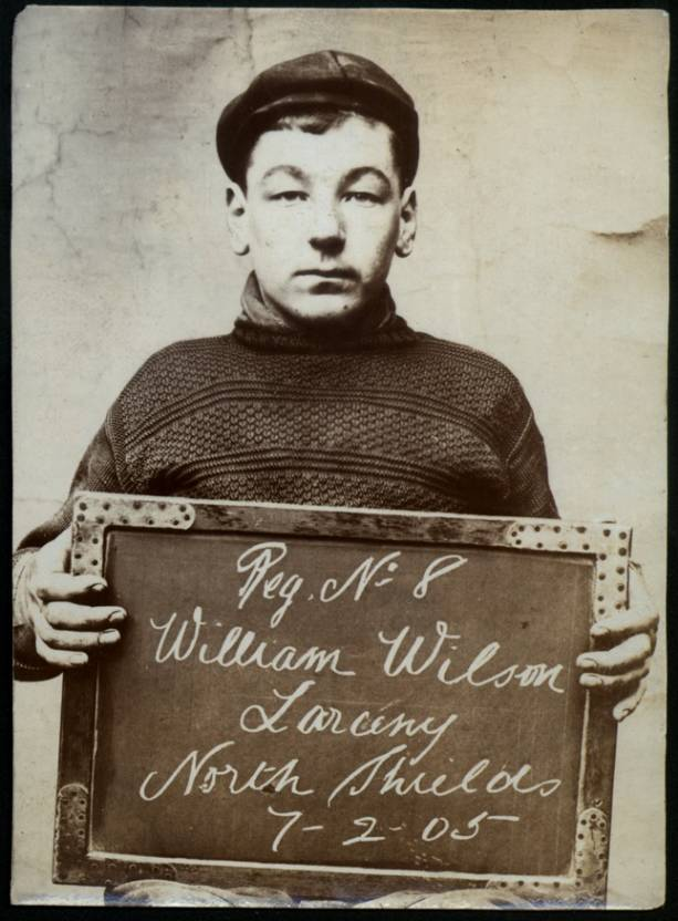 Name: William Sayers Arrested for: Larceny Arrested at: North Shields Police Station Arrested on: 24 March 1903
