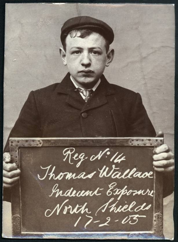 Name: Thomas Wallace Arrested for: Indecent Exposure Arrested at: North Shields Police Station Arrested on: 17 February 1905