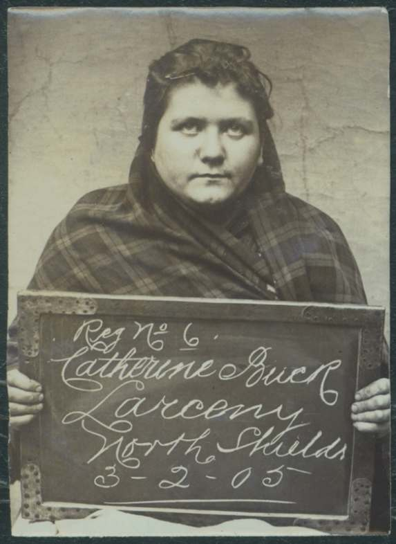 Name: Catherine Buck Arrested for: Larceny Arrested at: North Shields Police Station Arrested on: 3 February 1905