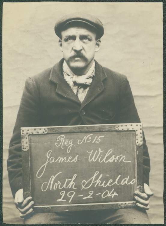 Name: James Wilson Arrested for: not given Arrested at: North Shields Police Station Arrested on: 29 February 1904