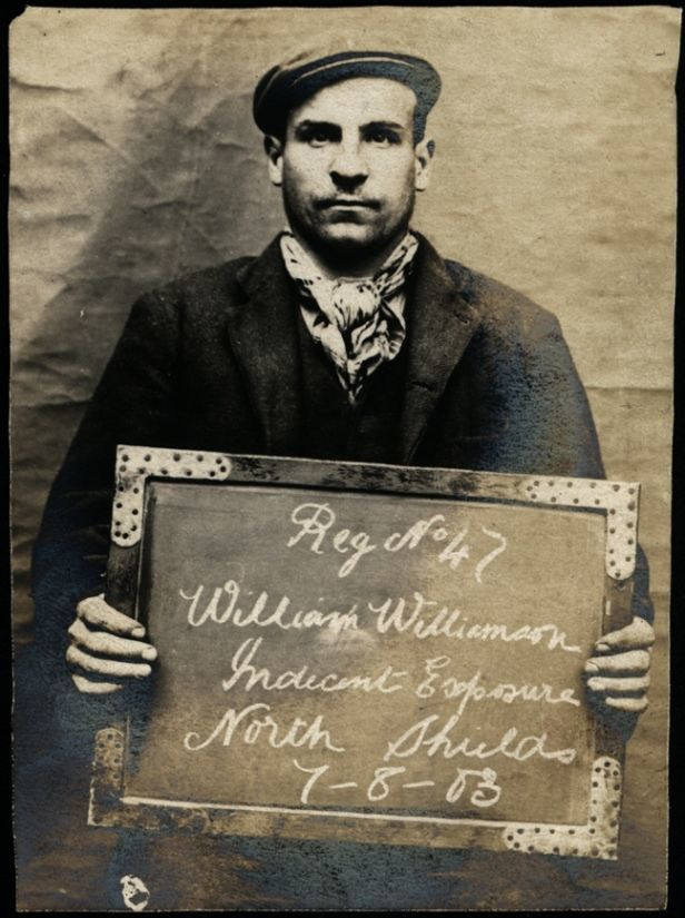 Name: William Williamson Arrested for: Indecent exposure Arrested at: North Shields Police Station Arrested on: 7 August 1903
