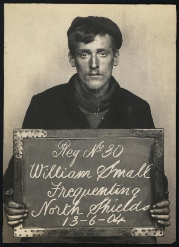 Name: William Small Arrested for: Frequenting Arrested at: North Shields Police Station Arrested on: 13 June 1904