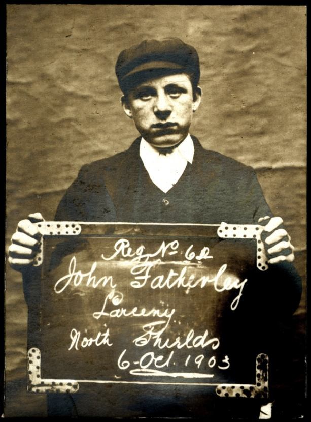Name: John Fatherley Arrested for: Larceny Arrested at: North Shields Police Station Arrested on: 6 October 1903