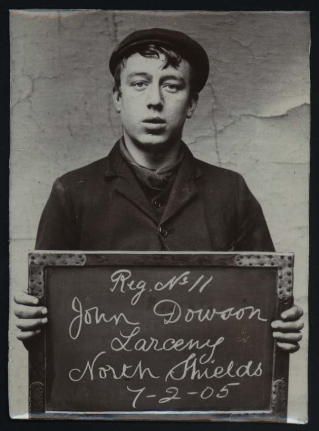 Name: John Dowson Arrested for: Larceny Arrested at: North Shields Police Station Arrested on: 7 February 1905