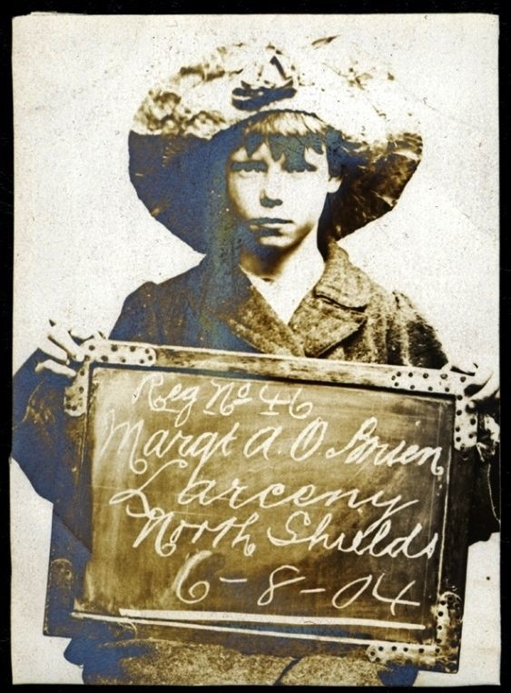 Name: Margaret A O'Brien Arrested for: Larceny Arrested at: North Shields Police Station Arrested on: 6 August 1904