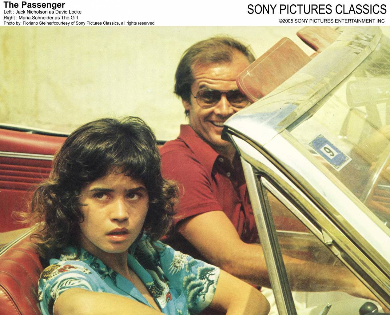 The Passenger Jack Nicholson and Maria Schneider lobby card