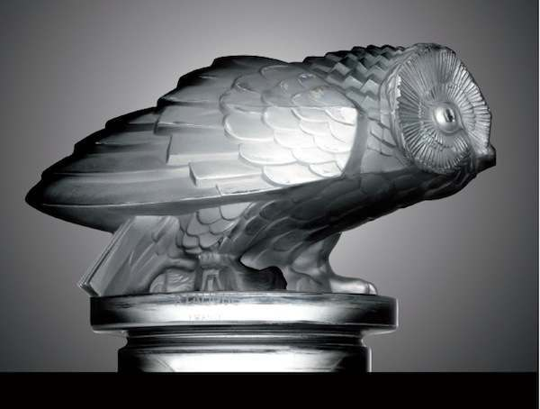 Some Lalique mascots had blue or milky hues. Hibou (Owl) was only made in clear or a frosted finish.