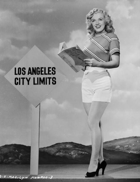 They wanted Monroe to look dumb. 1947: American film star Marilyn Monroe (1926 - 1962) reading an LA telephone directory near the Los Angeles city limits. (Photo via John Kobal Foundation/Getty Images)