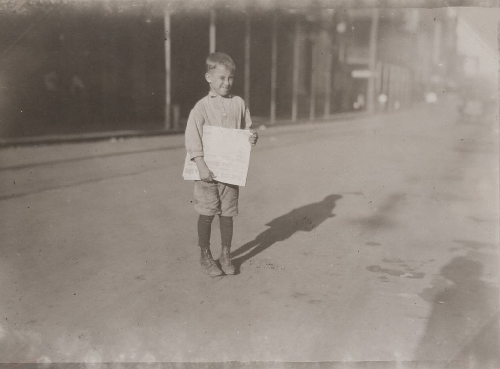 Young Newsboy, Mobile, Alabama . 1914