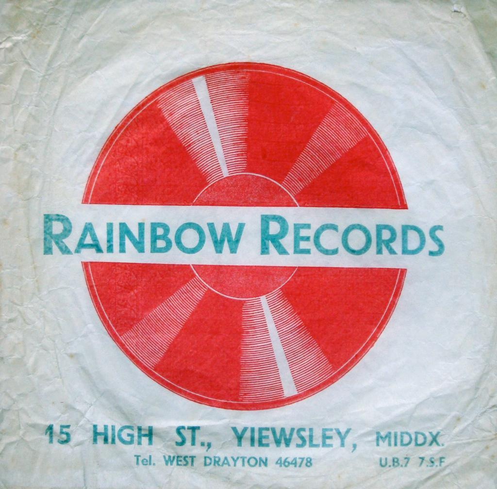 Rainbow Records, Yiewsley & West Drayton, 45 record bag.