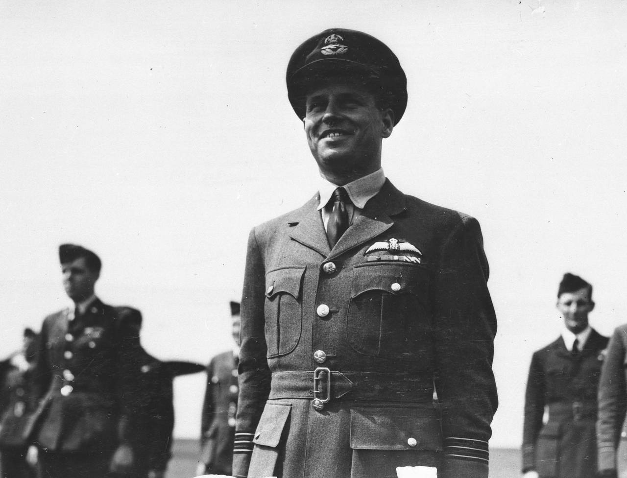 Guy Gibson awarded Victoria Cross Description: Wing Commander Guy Gibson awarded Victoria Cross for Dambusters raid Date: 1943