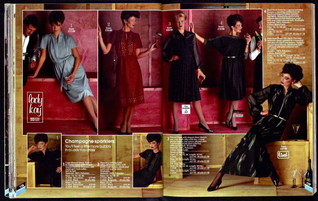 Evening wear Kays Catalogue women 1983