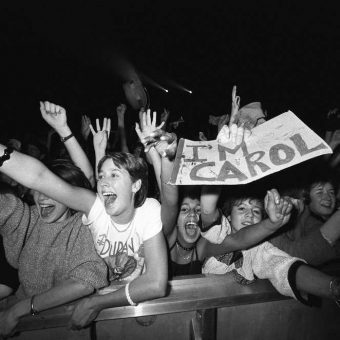 Ecstatic Teenagers Screaming At Pop Concerts In The 1960s And 1970s