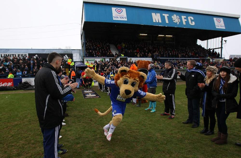 During the Budweiser FA Cup fourth round match between Macclesfield Town and Wigan Athletic at Moss Rose Ground on January 26, 2013 in Macclesfield, England.